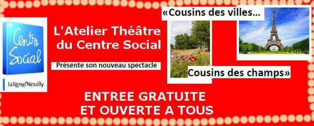 L'Atelier Théâtre du Centre Social de Jaligny/Neuilly présentera son nouveau spectacle intitulé «Cousins des Villes… Cousins des Champs !» Le Vendredi5 Mai et le Samedi6 Mai 2017 à 20 h […]