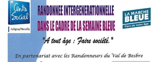 Le CENTRE SOCIAL en partenariat avec «Les Randonneurs du Val de Besbre» propose une marche intergénérationnelle, dans le cadre de la Semaine Bleue». Le mercredi 05 octobre : départ groupé […]