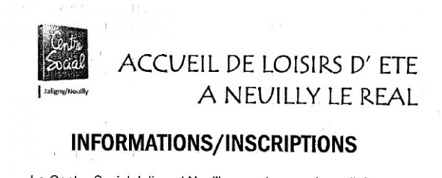 Le Centre-Social Jaligny Neuilly organise son accueil de loisirs d'été du Lundi 10 Juillet au Vendredi 11 août 2017. Ci joint, les jours et horaires de permanences pour les inscriptions. […]
