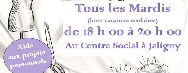 En janvier 2020 ça continu ! Tous les mardis soir de 18 h 00 à 20 h 00 (hors vacances scolaires) Au Centre Social à Jaligny Plus de renseignements au […]