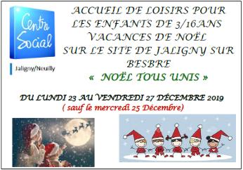 Pour une première, l'accueil de loisirs sera ouvert pendant les vacances de noël du 23 au 27 Décembre ( sauf le Mercredi 25 Décembre ) Inscription a retourner avant le […]